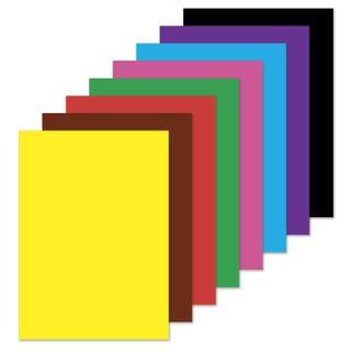 Colored paper A4 2-sided offset, 16 sheets 8 colors, on a bracket, BRAUBERG, 200х275 mm, Korablik