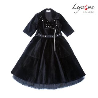 Dress - black velvet jacket