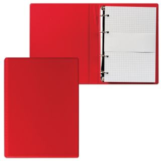 Notebook on A5 rings (140 x205 mm), 90 sheets, PVC cover, cage, DPS, red