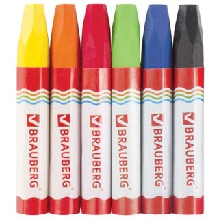 Wax crayons thickened BRAUBERG