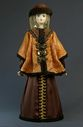 Doll gift porcelain. The boyar's daughter in festive attire (styling). 17th century. Rus. - view 1