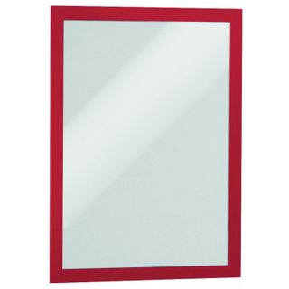 Frame wall for advertising DURAFRAME A4 size, SET of 2 PCs, magnetic, self-adhesive, red, DURABLE (Germany)
