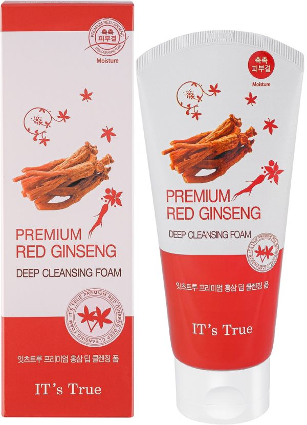 Cleansing foam Red ginseng , IT'S TRUE , 150ml
