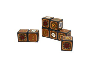 "Souvenir cubes with elements of the account ""Bright bloom"" hand-painted"