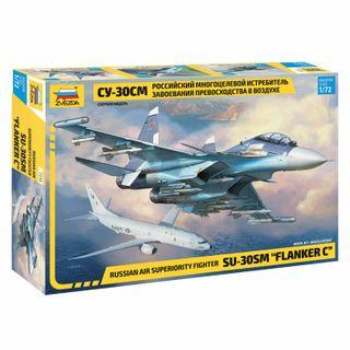 Model for bonding SLETER Samolet Fighter multirole Russian Su-30SM, scale 1:72, STAR
