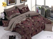 Satin bed linen 3D abstract