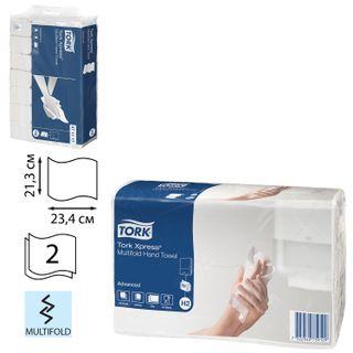 TORK / Towel paper (System H2) Advanced 2-ply white, 23.4x21.3 cm, Multifold, SET 190 pcs.