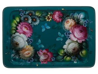 Zhostovo / Unique Tray, by O. Koshkina 53x36 cm