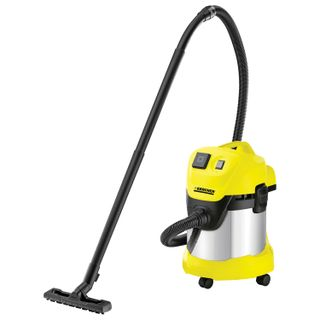 Vacuum cleaner KARCHER WD 3 P Premium, 1000W power, receptacle, blow moulding, container stainless steel