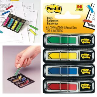 Bookmark adhesive POST-IT, plastic, 12 mm 4 colours x 24 PCs.