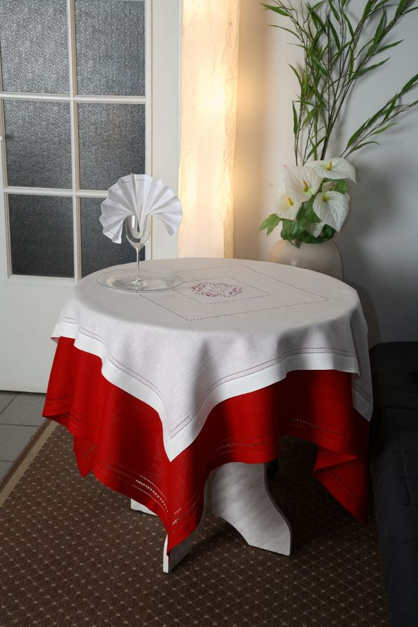 Tablecloth with openwork embroidery