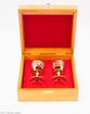 A set of zirconia glasses on the leg in a wooden gift box - view 4