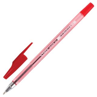 STAFF ball point pen AA-927 red, body tinted, chrome, 0.7 mm, 0.35 mm line