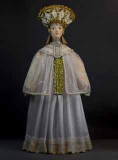 Doll gift porcelain. The Gold-Domed Rus. Generalized poetic image.