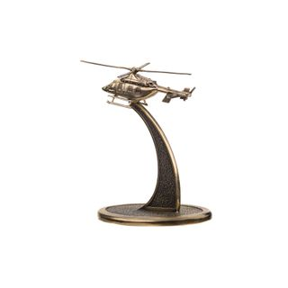 """The model of the helicopter """"Ansat"""" with stand 1:200"""