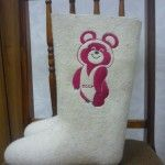Boots with embroidery  Olympic bear (MW)