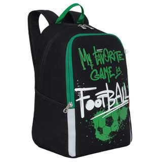 GRIZZLY backpack school, anatomical backrest, black,