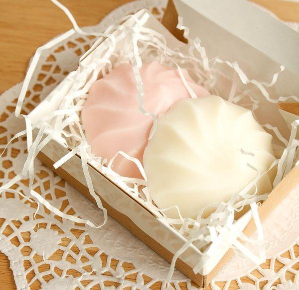 Delicate marshmallow - handmade soap in a mini set