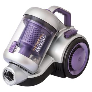 The NATIONAL cleaner NH-VC1852, container, cyclone, 1800 W suction power 360 W, purple/silver
