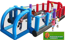 Inflatable gates 'Football Country' kids inflatable trampoline