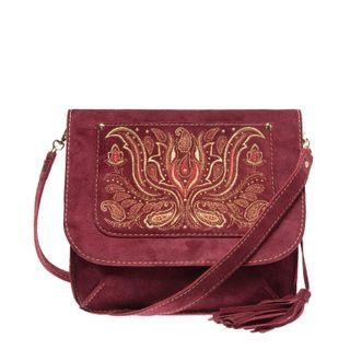 Suede crossbody bag Irida handmade