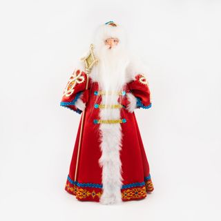 Toy under the Christmas tree Santa Claus in red coat boyar, porcelain, handmade 28 cm
