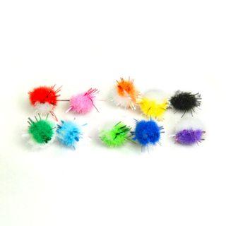 POM-poms for creativity, multicolor, shiny, 8 mm, 100 PCs., TREASURE ISLAND