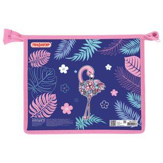 Folder for notebooks PYTHAGORAS A5, 1 compartment, plastic, zipper top,