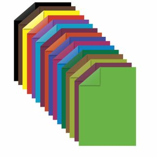 Colored paper A4 2-sided offset, 16 sheets, 16 colors, on a bracket, INLANDIA, 200х280 mm, Olenenok