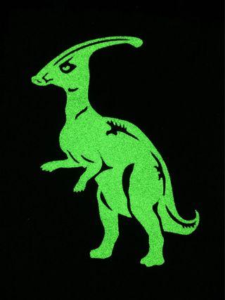 """Stickers glowing in the dark """"Inhabited Island - Parasaurolophus"""""""