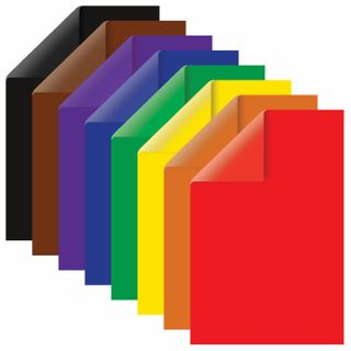 Colored paper A4 2-sided coated (glossy), 16 sheets 8 colors, on a bracket, BRAUBERG, 200х280 mm,