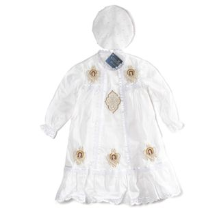 Baptismal set 86-48 white with silk embroidery