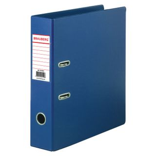 Folder-Registrar BRAUBERG with double-sided PVC coating, 70 mm, blue