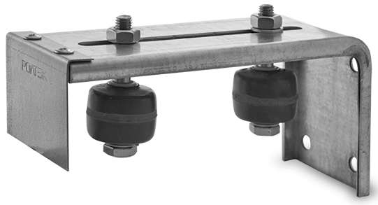 Side-mounted bracket (no casters)