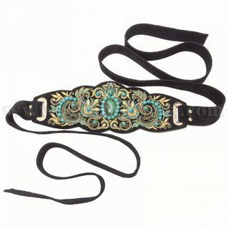 """Women's belt """"Malachite tale"""""""