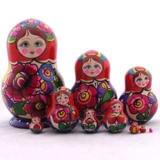 Small matryoshka 10 dolls Polkhovsky Maidan