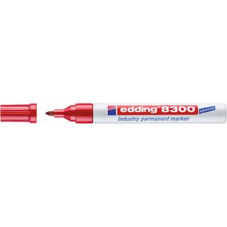 Edding / Industrial permanent marker, for oily and dusty surfaces, 1.5-3 mm Red