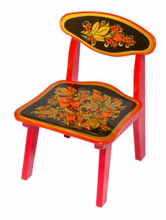 "Khokhloma painting / Wooden children's chair ""Khokhloma painting"", 0 height category"