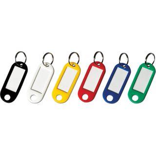 BRAUBERG / ASSORTED key tags, length 50 mm, info-window 30x15 mm, SET 12 pcs.