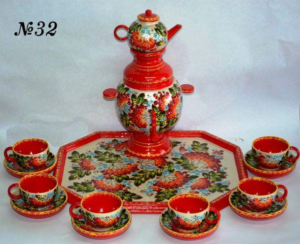 """Vyatka souvenir / Painted set """"Samovar"""""""