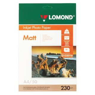 Photo paper for inkjet print, A4, 230 g/m2, 50 sheets, single-sided matte LOMOND