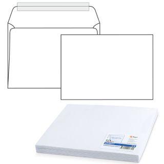 Envelopes C4 (229х324 mm) tear-off strip, white, 100 g/m2, the complete SET 50 pieces, inner sealing