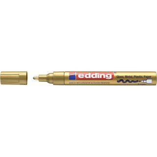 Edding / Marker varnish glossy, round nib, 2-4 mm Gold