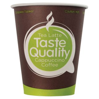 "FORMATION / Disposable cups 150 ml, SET 100 pcs., Single-layer paper, ""Taste Quality"", cold / hot, for vending"