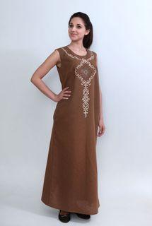 Dress womens linen 9-201