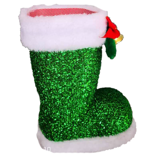 New Year's gift Green shiny boot + a set of sweets 450g.