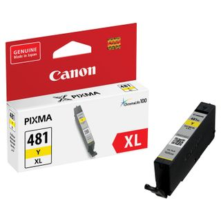 Inkjet cartridge CANON (CLI-481Y XL) for PIXMA TS704 / TS6140, yellow, yield 512 pages, original