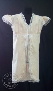 "Set of child ""Chemise and robe"""