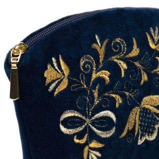 "Velvet cosmetic bag ""Bouquet"" black"