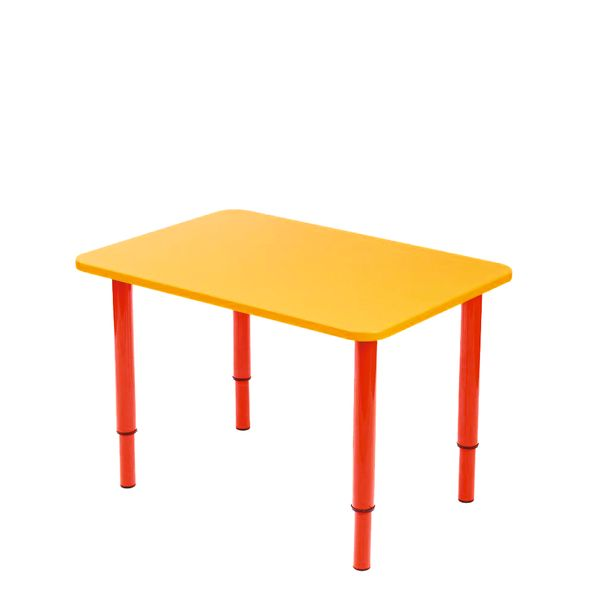 Children's table with adjustable height without painting